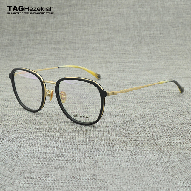 US $27 99 30% OFF|2018 NEW round glasses frame men women TAG designer  limited edition retro Computer myopia Goggles Eyeglass frame 2063 gafas-in