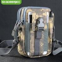 JK43 Ngụy Trang Quân Sự Chiến Thuật Ngoài Trời Du Lịch Túi Điện Thoại Cho iPhone 6 s cộng với 7 Cộng Với 5 s SE 8 Cộng Với Holster Belt Bag Wallet Pouch