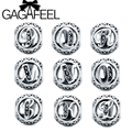 GAGAFEEL New Letter Beads Fit Pandora Charm Bracelets Charms with Cubic Zirconia for Jewelry DIY Making J-R