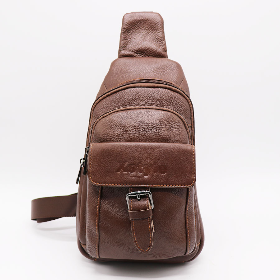 Brand Genuine Leather Casual Chest Pack Men's Crossbody Shoulder Bag Messenger Bags Travel Sling Bag Solid Zipper Multi-function danjue brand men chest bags real genuine leather male messenger bag casual fashion highquality big capacity travel crossbody bag