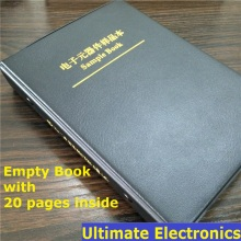 Empty Sample Book with 20Pages(Empty pages) For 0402/0603/0805/1206 SMD Electronic Components