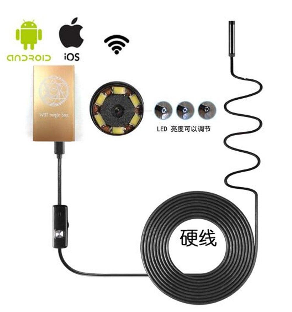 5.5mm Wireless  WIFI Endoscope Camera 6LED illumination 1M/2M/3.5M/5M Optional 7mm 1 3mp water proof wifi endoscope camera 1m 2m 3 5m 5m optional
