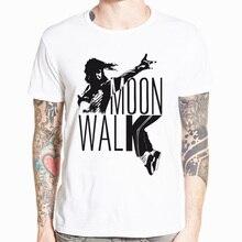 Tee Shirt Homme Michael Jackson White Short Sleeves T Men Casual 100% Cotton O Neck T-Shirt Male Shorts Streetwear Fashion