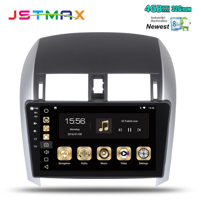10.2 Android 8.0 Car GPS Radio Player for Toyota Corolla 2007-2011 with Octa Core 4GB+32GB Auto Stereo Multimedia