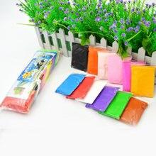 12 цветов цветной легкий Пластилин Глина Полимерная глина воздушная