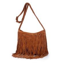 Heißer Verkauf Mode Frauen Wildleder Weben Quaste Umhängetasche Messenger Bag Fransen Handtaschen Hochwertige Kostenloser Versand A104
