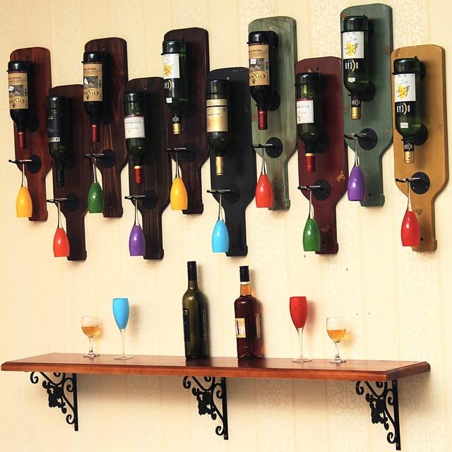 Wood Whisky Bottle Holder Ideas: Wine Rack Whisky Bucket Wine Holder Balde De Gelo Bar Wall