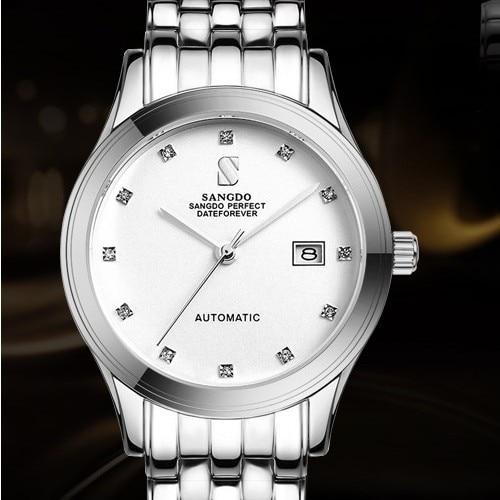 ФОТО 38MM SANGDO men's watch Sapphire mirror Automatic Self-Wind movement  High quality Luxury Mechanical watches 2016 new fashion322