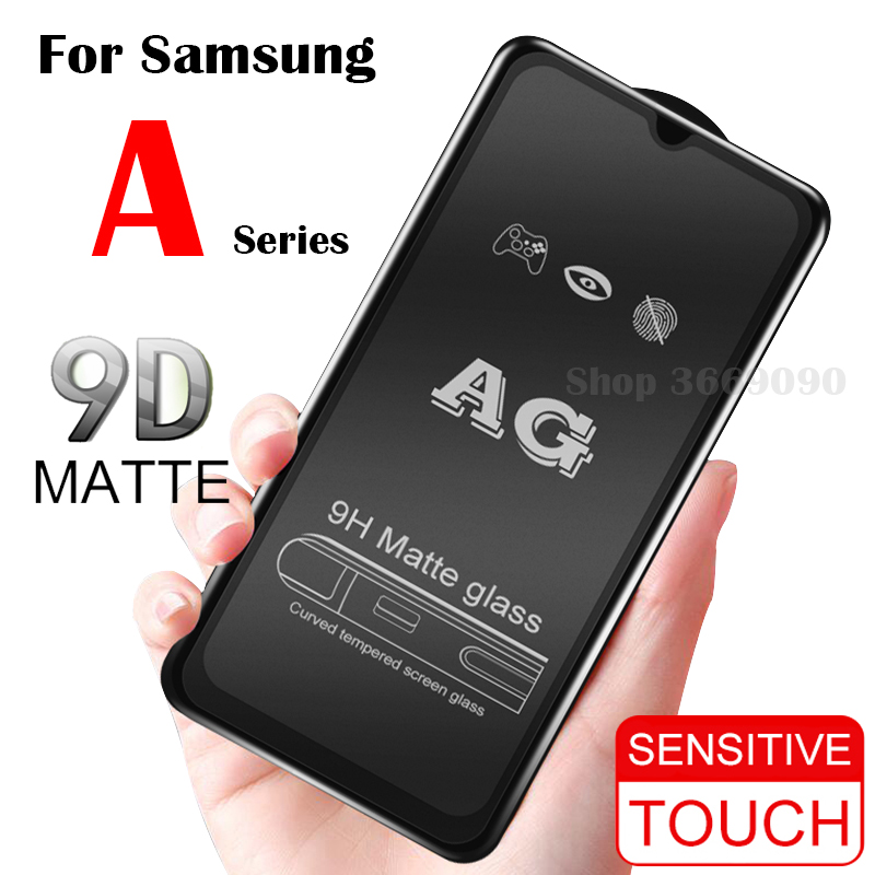 Matte Frosted Protective <font><b>Glass</b></font> On The for <font><b>Samsung</b></font> A70 Galaxy A50 Tempered Flim A10 A20 A30 A40 Samsong Galexy <font><b>A</b></font> 10 <font><b>40</b></font> 30 50 70 image
