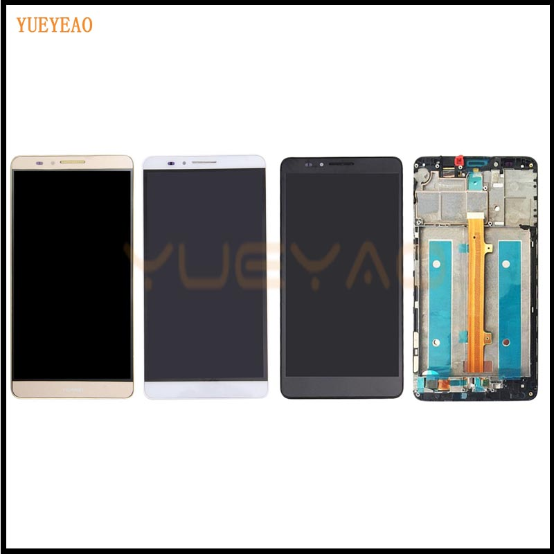YUEYAO LCD Display + Digitizer Touch Screen Assembly For Huawei Mate 7 Mate7 Cellphone 6.0 inch LCD with Frame yueyao lcd for huawei mate 7 lcd display touch screen original assembly replacement for ascend mate 7 lcd screen display