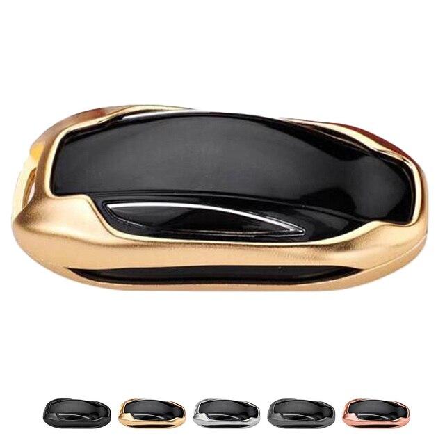 Aluminum Alloy Car Key Case Bag Case Cover Car Key Shell Protector For Tesla Models X
