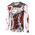 New Arrival Men 3d Printed Poker King T-Shirt High Quality Long Sleeve Decorative Pattern Fashion Top Tees Slim fit for man