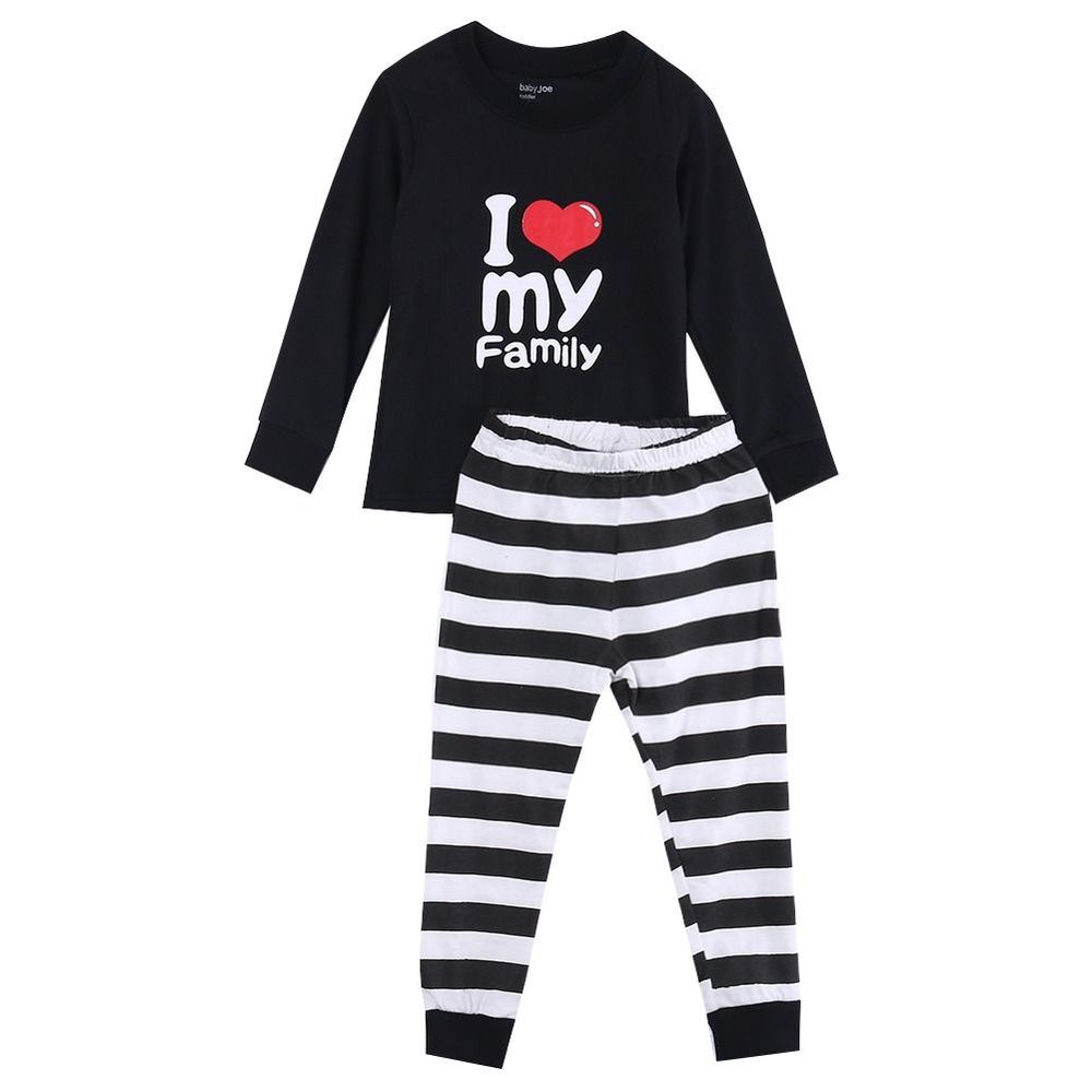 Children Baby Kids Girls Boys Long Sleeve Nightwear Pajamas Set Sleepwear Suit,Infant, Toddler & Kids i love family print 2016 christmas suit 0 3y newborn toddler kids girls boys reindeer homewear nightwear sleepwear pajamas set 2pcs