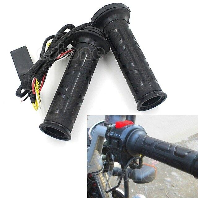 "Motorcycle 7/8"" 22mm Electric Hot Heated Molded Grips Handle Handlebars Warmer"