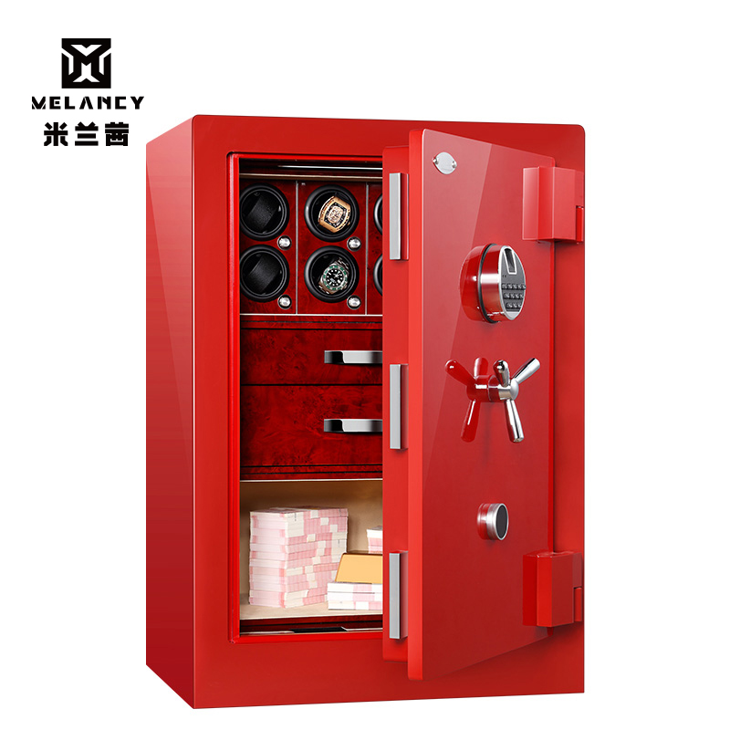 Роскошь высокого класса настраиваемые часы показ хранилища ювелирных украшений шкатулка вращающихся сейф с автоматическим заводом часов