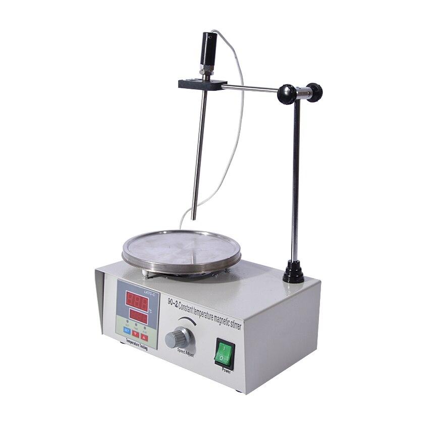 цена на 1PC High-temperature Constant temperature magnetic heating digital display stirrer 90-2,100-2000r/min, 220V