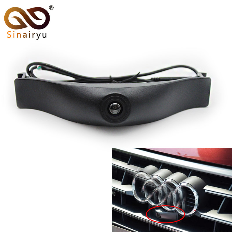 Sinairyu CCD HD night vision front view <font><b>Audi</b></font> forward logo <font><b>camera</b></font> can be used for <font><b>Audi</b></font> A1 A3 A4 A5 <font><b>A6</b></font> A7 Q3 Q5 Q7 TT front <font><b>camera</b></font> image