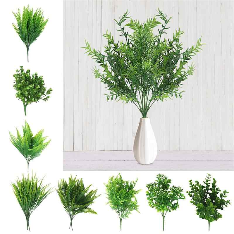 Creative Artificial Shrubs Decorative Artificial Plant Ferns Simulation Plant Plastic Flower Fern Wall Accessories Dropshipping