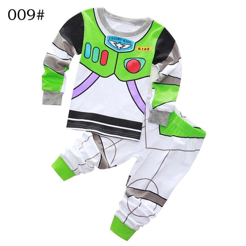 New Arrival toddler boy clothes   set   Buzz Lightyear kids   pajamas     set   cartoon woody pijama infantil super mario bros pijama 2pcs