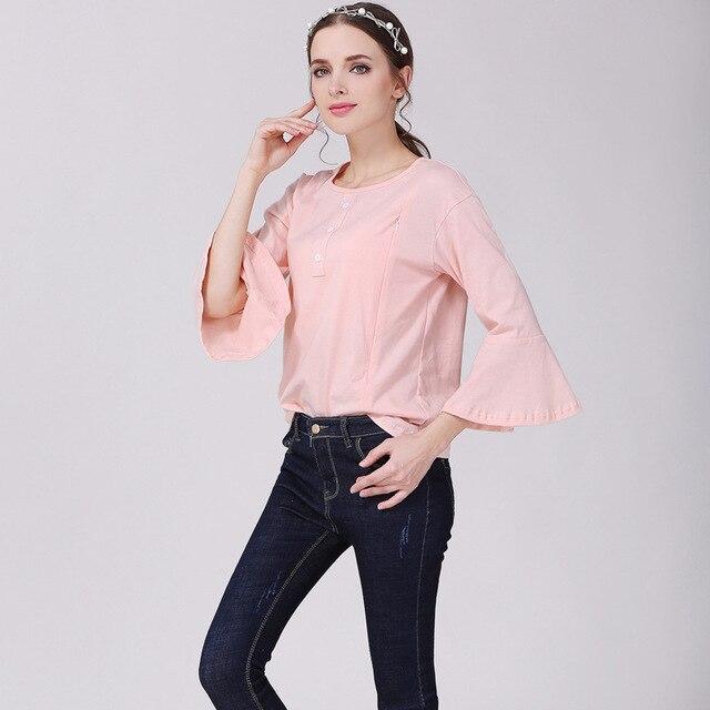 Nursing Tops Mutterschaft shirt rosa nette Stillen Kleidung für ...