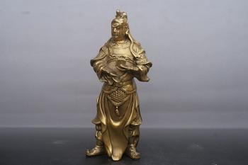 China old Bronze statue Guan Yu God  statue