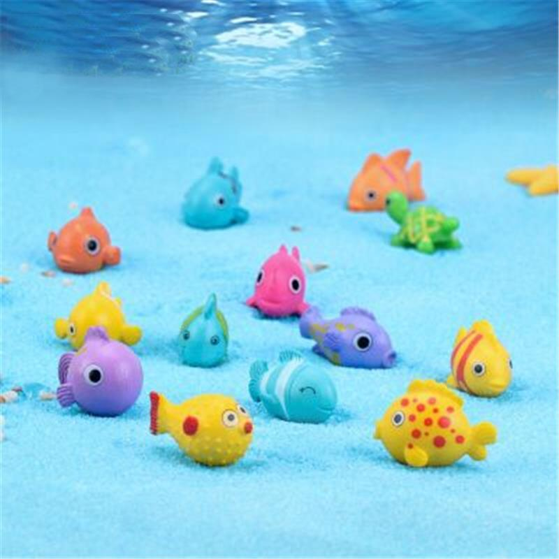 5pcs/Lot Fish Miniature Figures Decorative Mini Fairy Garden Animals Moss Micro-Landscape Ornaments Resin Toy