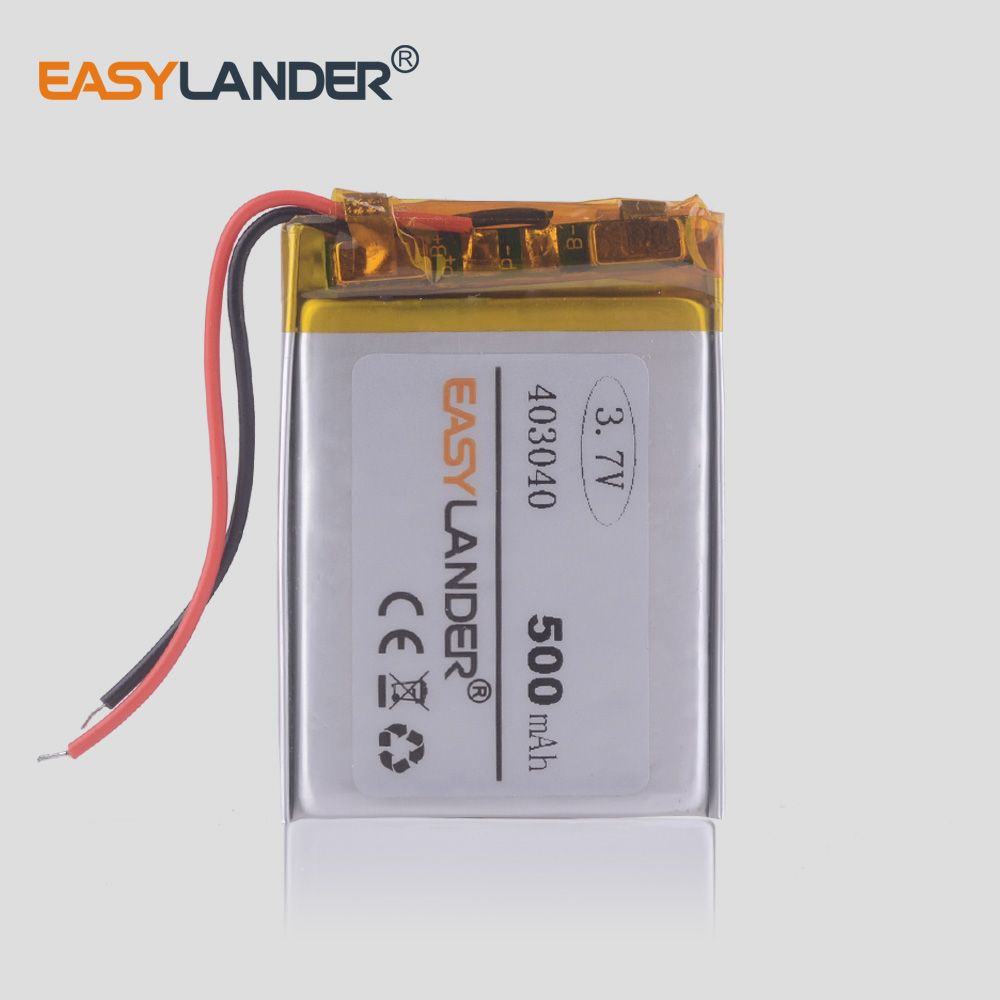 <font><b>403040</b></font> <font><b>3.7V</b></font> 500mAh Rechargeable Li-Polymer Li-ion Battery For mp3 mp4 mp5 mouse Bracelet Wrist Watch DVR GPS PDA 403038 382941 image