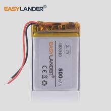 цена на 403040 3.7V 450mAh Rechargeable Li-Polymer Li-ion Battery For mp3 mp4 mp5 mouse Bracelet Wrist Watch DVR GPS PDA 403038 382941