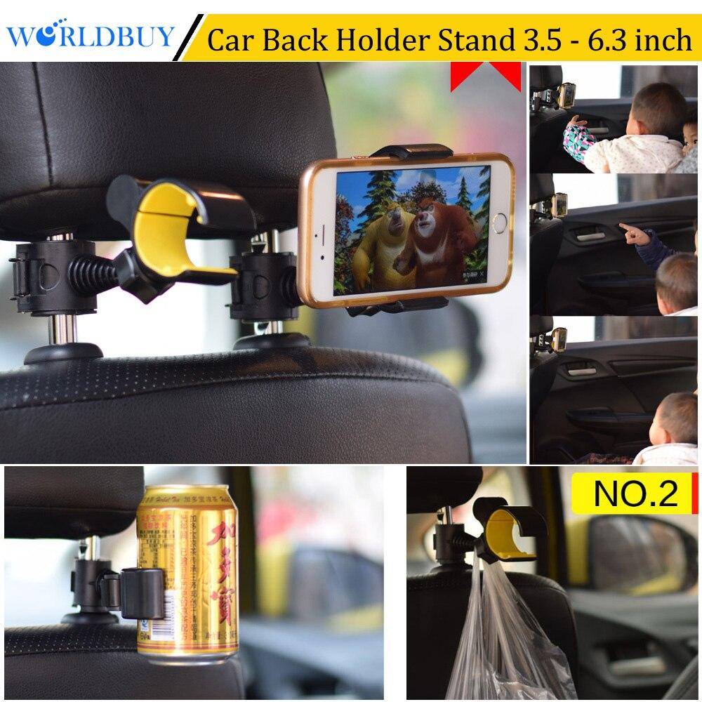 Worldbuy 360 градусов ratating автомобилей Грузовик Вернуться подголовник сиденья телефона держатель сотового телефона для iPhone X Samsung Sony GPS оборудова…