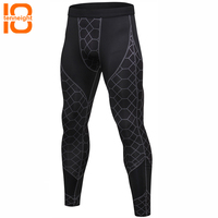 TENNEIGHT New Men's Quick Dry Compression Fitness pants Sport Leggings Tights Sportswear fitness running pants Training Trousers