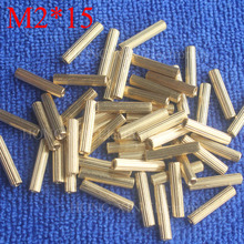 M2*15 1Pcs Brass Spacer Standoff 15mm Female To Standoffs column cylindrical High Quality 1 piece sale