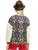 Elf saco inverno patchwork moda feminina moda impressão berber velo camisola