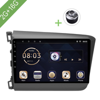 Car Multimedia player 1 Din Android 7.1 Car DVD For Honda Civic 2012 2015 9 2G/16G touch screen Car Radio GPS