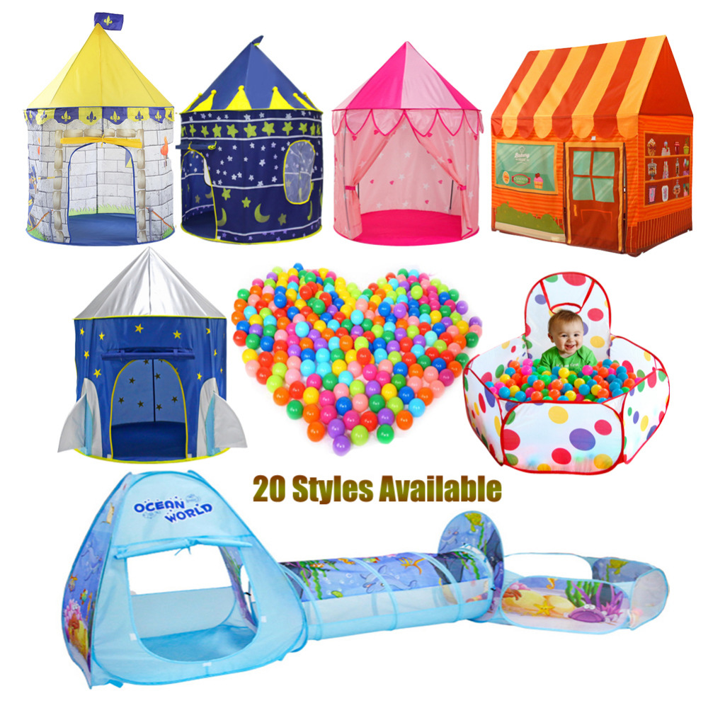 children's tent ball pool Playhouses Kids Baby Play inflatable pool Folded For Portable Kids Outdoor Game in Play tent for kids image