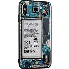 New mobile phone case for Apple 6plus mobile phone MAX glass case for iPhone8 teardown circuit board internal map 6se7090 0xx84 0fj0 inverter board teardown