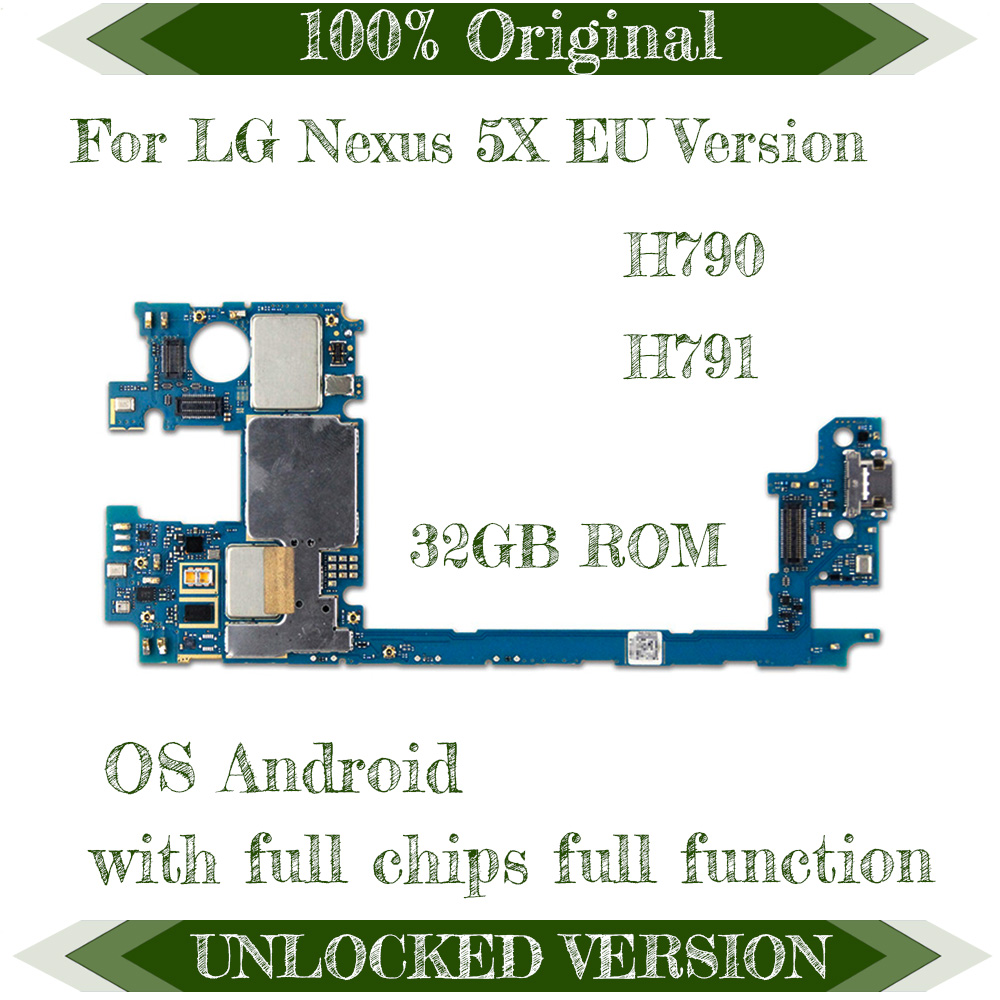 good working motherboard for lg nexus 5x h790 h791 32gb 16gb factory unlocked original mainboard android [ 1000 x 1000 Pixel ]