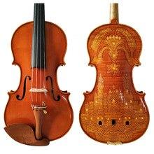 Копия Stradivarius 1715 ручная работа резьба цветок FPVN03 скрипка+ углеродного волокна лук пены чехол