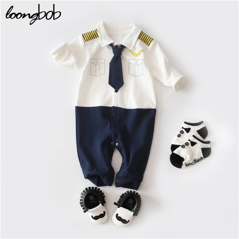 Baby Rompers Cotton Long Sleeve 0-24M Baby Clothing for Newborn Baby Captain Clothes Boys Clothes Ropa Bebes Jumpsuit Custume baby clothes autumn winter baby rompers jumpsuit cotton baby clothing next christmas baby costume long sleeve overalls for boys