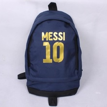 High Quality Messi Foot Ball Backpack Boys Girls School Bag Men Women Large Capacity Travel Canvas Backpacks Mochila Escolar