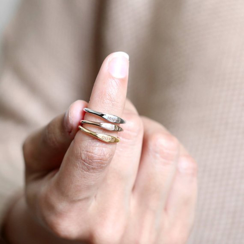 Image result for Personalized Stackable Rings Gif