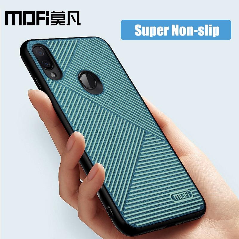Für xiaomi redmi note 7 fall flüssigkeit silikon zurück abdeckung tuch anti-knock business phone cases MOFi original note7 pro fall