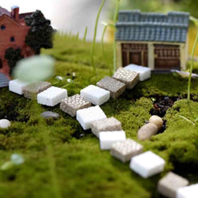 10pcs Mini Home Garden Artificial Stairs Terrarium Figurines Fairy