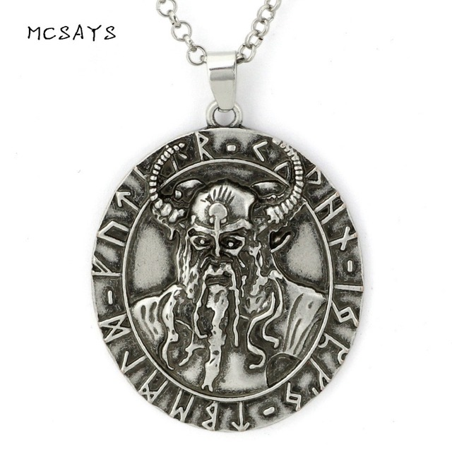 MCSAYS Norse Viking Jewelry Celtics Bull God Pattern Pendant Vintage