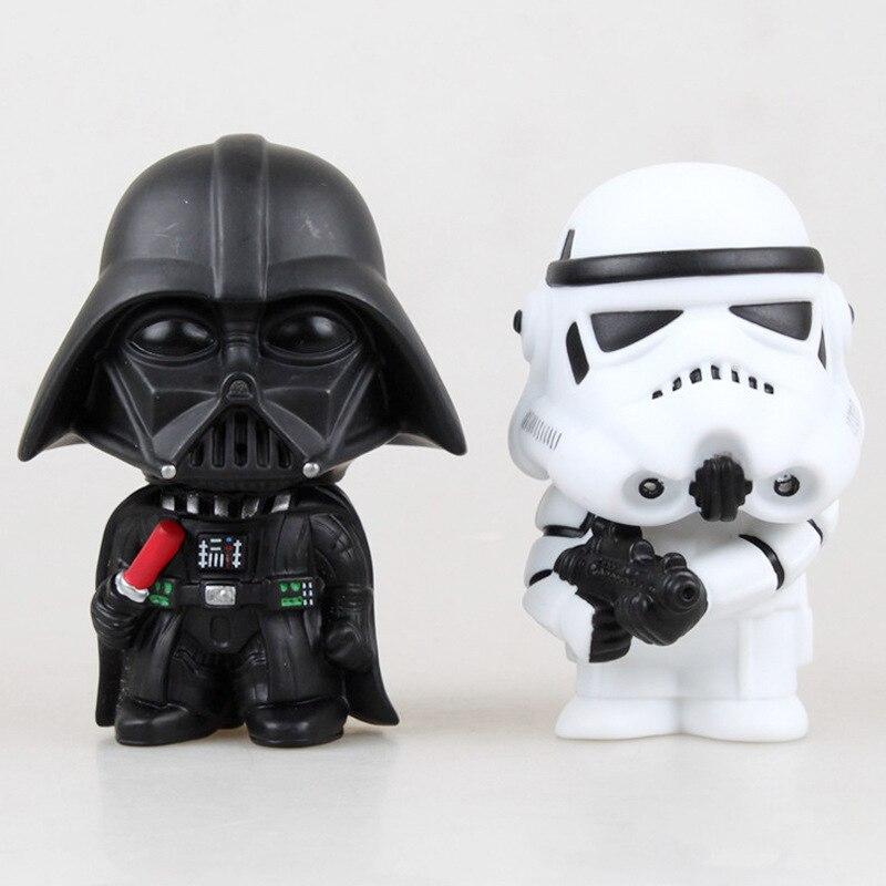 New Hot 10cm Q Version Star War 7 Darth Vader Storm Trooper font b Action b