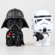 New Hot 10cm Q Version Star War 7 Darth Vader & Storm Trooper Action Figure Toys Collection Doll Toys for Kids Gifts Free Ship