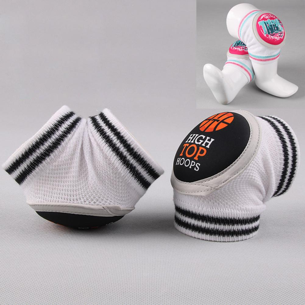 Kids Anti-collision Mesh Kneecap Summer Breathable Mesh Kneepad High Elasticity Anti-Skid Joint Protection Socks SAN0