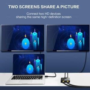 Image 2 - HDCP 4K HDMI Splitter Full HD 1080p Video Switch HDMI Switcher 1X2 Split 1 in 2 Out Amplificatore doppio Display Per HDTV DVD PS3 Xbox
