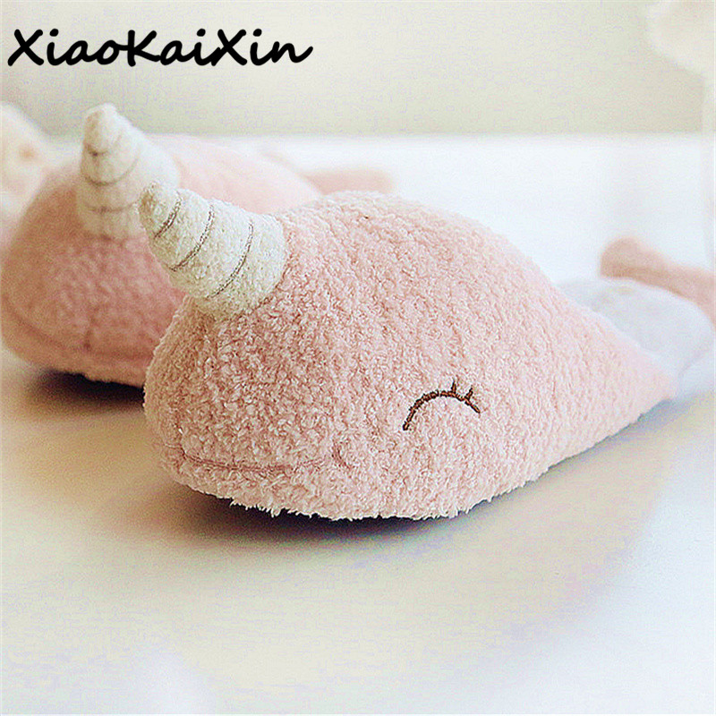 Lovely Cartoon Unicorn Home Slippers For Women Winter Warm Plush Narwhal Fish House Shoes chinelo Unicornio delicate zapatillas