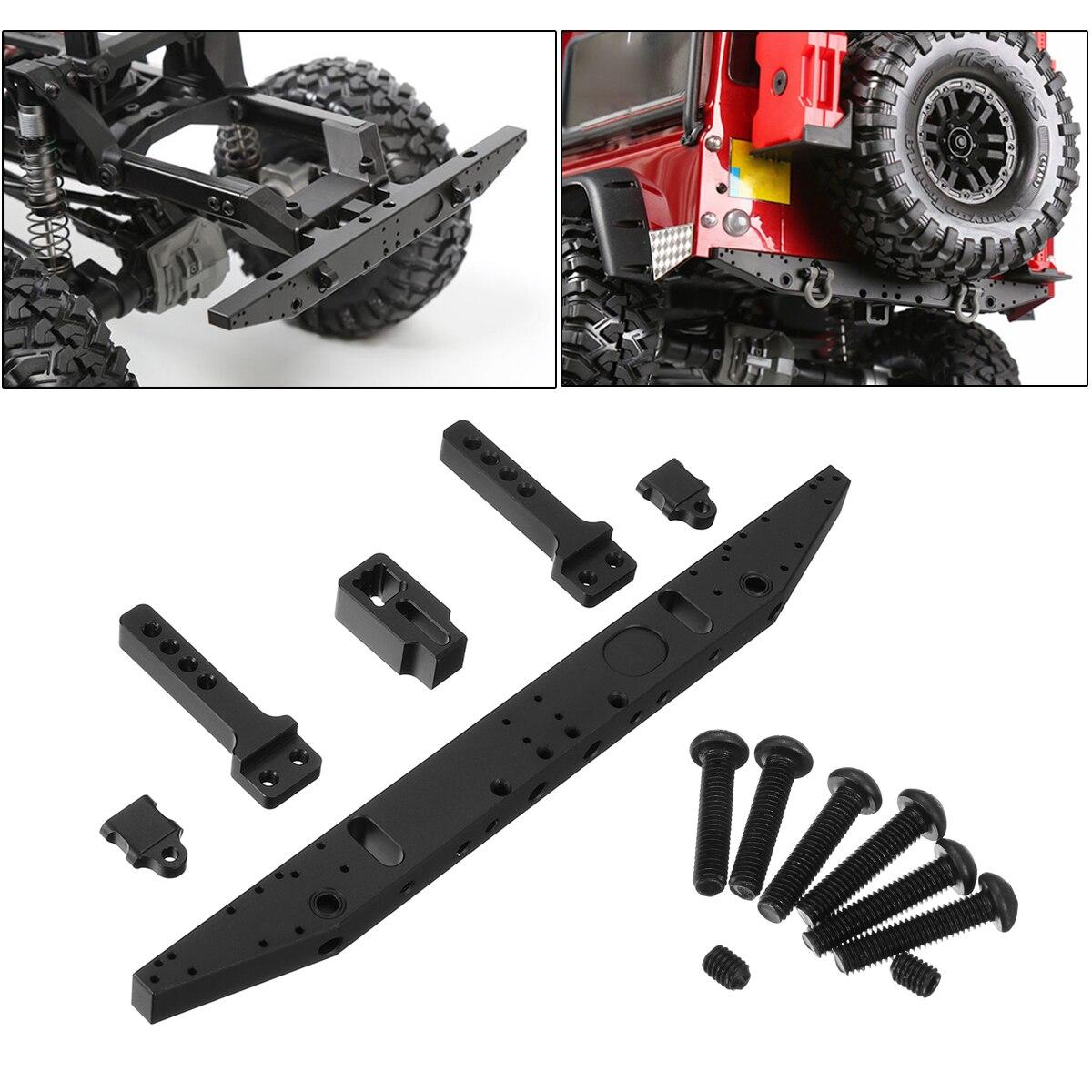 For 1/10 Traxxas TRX4 TRX-4 RC Crawler Aluminum Alloy Classic Rear Bumper Car Parts & Accs Cool Attractive Black Upgrade Auto mxfans rc 1 10 2 2 crawler car inflatable tires black alloy beadlock pack of 4