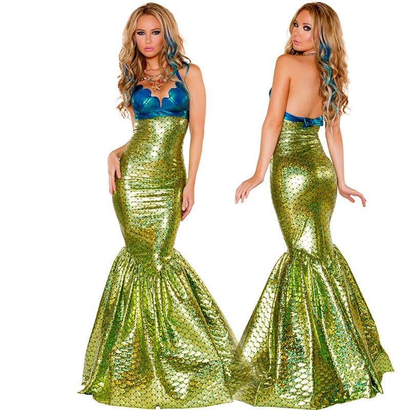 Mermaid Cosplay Fancy Sexy Party Princess Ariel Costume Carnival Halloween Party Dress Uniform